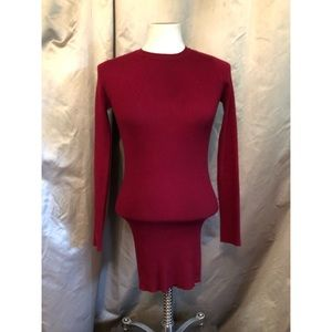 Forever 21 Red Ripped Mini Bodycon Dress Size Sm